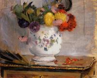 Daffodils Berthe Morisot Flowers Floral Still Life Art Canvas Print Small 8x10
