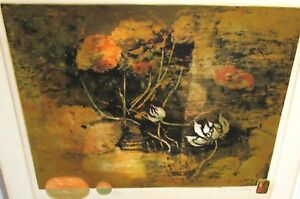 HOI LE BA DANG LIMITED EDITION HAND SIGNED FLOWERS LITHOGRAPH