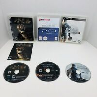 Dead Space 1 2 3 Trilogy Sony PlayStation 3 PS3 Video Games  LOT X3