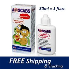A-Scabs Lotion 30ML (1oz) Scabies Body Lice Ticks Flea Mites Arthropod Treatment