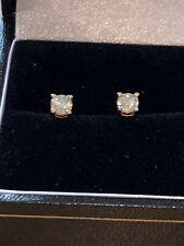 18ct Yellow Gold .60 Carat Diamonds Earrings Screw Backs