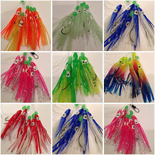 4x Squid Sabiki 5 Hooks Fishing Baits Lures Rigs Catcher Mackerel Sardines Pier