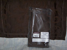 BROWN DINNER NAPKINS SCROLL DESIGN BY CHRIS MADDEN FOR JCP PACKAGE OF 6 NEW