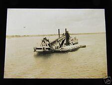 Glass Magic lantern slide A SEA DREDGE C1910  .. .....  BOAT MARINE SHIP
