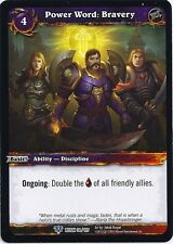 WORLD OF WARCRAFT WOW TCG REIGN OF FIRE : POWER WORD BRAVERY X 4