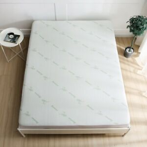 38cm Fully Fitted Skirt Bamboo Waterproof Mattress Protector in All Sizes