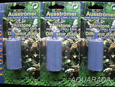 3St.Ausströmerstein zylindrisch Diffuseur  für Durchlüfterpumpen 4/6mm Aquarium