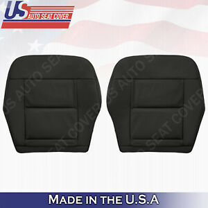 Fits 2010 to 2016 Mercedes Benz E350 E450 E550 FRONT BOTTOMS Leather Cover Black