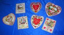 7 Vtg Die Cut, Embossed 1920'S - 1930'S Art Deco Folding Valentines, All Signed
