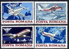 1984 Airplanes,Civil Aviation,ICAO,Boeing,Lockhead,Airport,Romania,Mi.4072,MNH