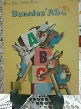 BUNNIES' ABC Little Golden Book 1985 VGC