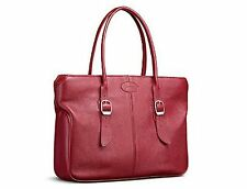 Filofax Finchley Leather Briefcase Bag Handbag Slimline Red For Notebook Laptop
