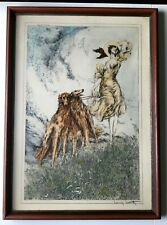 "Louis Icart ""Joy of Life"" Copyright 1929 Colored Engraving Signed [AH450]"