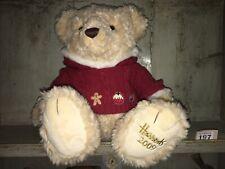 HARRODS London Christmas Bear MAXWELL 2009 Birthday Gift Born 2009