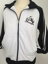 Unisex Black Piaggio Vespa Motorbike Graphic Italian Sports Jacket Size Small