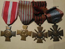 lotto di 4 croci per militari in francia 1 e 2° guerra mondiale