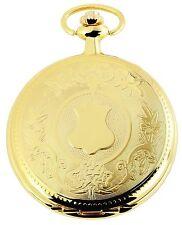 Taschenuhr weiß Gold Wappen Metall analog Quarz Herrenuhr D-480702000037350