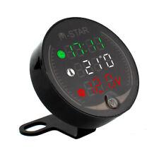3 In 1 Motorcycle Atv Voltmeterelectronic Clockthermometer Digital Led Z3q0