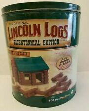 Lincoln Logs Building Set Bicentennial Edition Complete 100 original wood pieces