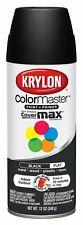 Krylon ColorMaster Fast Drying Spray Paint Flat Black 12 Oz lot of 6