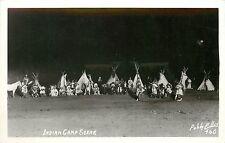 RPPC Postcard Indian Camp scene Ellis Photo 460 WA