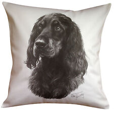 More details for gordon setter ms breed of dog themed cotton cushion cover - perfect gift
