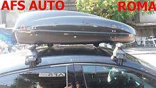 BOX AUTO PORTAPACCHI HELIOS 400 NERO+BARRE PORTATUTTO LANCIA YPSILON ANNO 2007