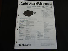 ORIGINALI service manual TECHNICS sl-xp6