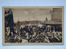 TRIESTE Re Vittorio Emanuele nave Audace vecchia cartolina