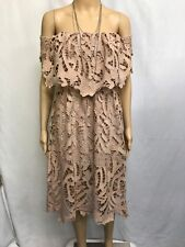 PAPER HEART SIZE 8 OFF THE SHOULDER LACE DRESS
