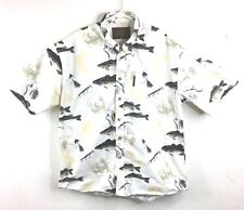 Mens NORTH RIVER Outfitters FISHING Theme Button Up Shirt Medium