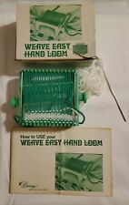 Weave Easy Hand Loom With Original Box And Instructions And Started Project