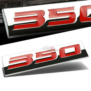 ALUMINUM STICK ON 3D POLISHED RED LETTERS 350 DECAL EMBLEM TRIM BADGE LOGO SIGN
