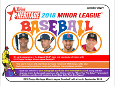 Stuart Fairchild 2018 Heritage MiLB 5 CASE (60 Box) PLAYER Break