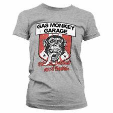 Officially Licensed Gas Monkey Garage Stripes Shield Women T-Shirt S-XXL Sizes