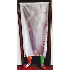 Creepy Clown IT Door Curtain - Clown Legs & Shoes Scary Halloween Party Prop