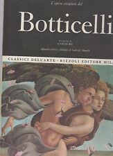 classici dell arte rizzoli- l opera completa di botticelli