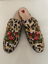 Gucci Princetown Tapestry Brocade leopard print Flat Loafer 38.5 RP£805