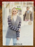 Womens knitting patterns.jumpers.size 32-54 inch bust.Chunky.Sirdar.