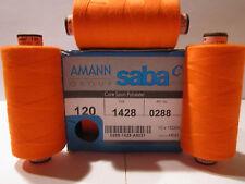 (0,50 €/100m) Nähgarn AMANN SABA 120 Stärke 1000 m Polyester 113 Farben Auswahl