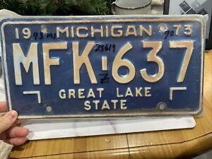 Michigan Collectors Vintage American Number Plate