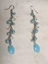 Vintage Dangle Earrings, Fashion Jewelry, Swarovski Pearl Crystal Earrings,