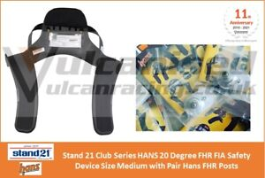 Stand 21 Club Series HANS 20 Degree FHR FIA Device Size Medium with Hans Posts