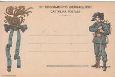 A4678) WW1 FRANCHIGIA PRIVATA DEL 12 REGGIMENTO BERSAGLIERI.