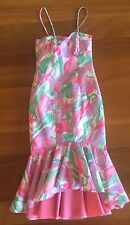 Floral Fishtail Evening Formal Dress Wedding Handmade Size 10