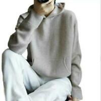 New Womens Thick Warm Cashmere Hoodie Pullover Loose Hoodies Sports Sweater new