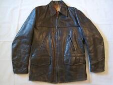 New listing Vintage 1950's Brown Leather Steerhide Jacket sz 42