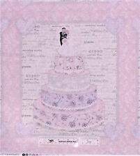 Wedding Day for Hancock Fabrics Cake Pillow Panels  Cotton Fabric  BTY  (M3) +