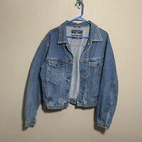 Vintage Union Bay Jean Jacket Extra ComfortButton Front Blue Denim Sz M Mens