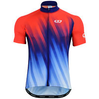 Didoo Cycling Jersey Mens Full Zip Half Sleeve Summer Anti Slip Short High Top